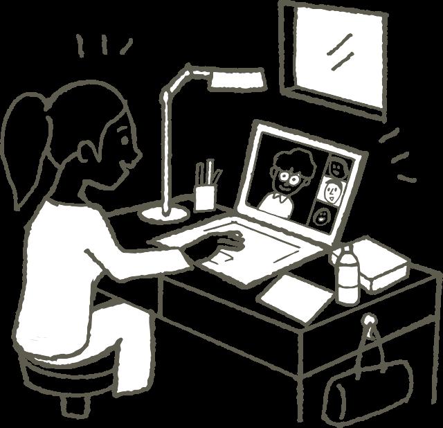 WEB面接画像